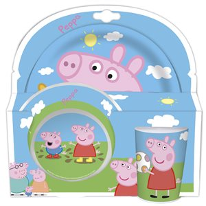 Peppa pig plate and cup 3 pcs set