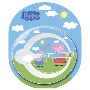 Peppa pig dishes for baby 2pcs