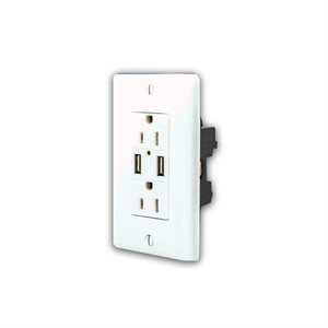 2 OUTLETS WITH TEMPER PROTECTION+2USB
