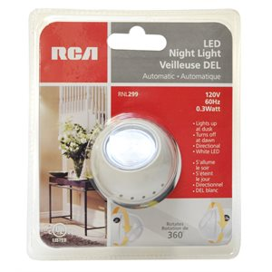 Rotating automatic LED night light